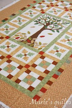 would look great like a family tree quilt