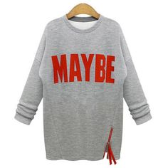 New Casual Letter Print Fleece Long Sleeve Sweatshirt New Autumn Winter WomenTracksuit Plus Size Clothes Cheap #Affiliate