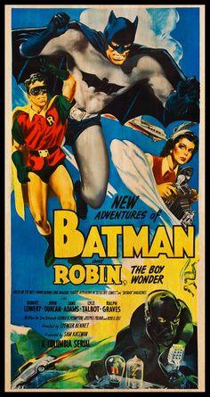 love The New Adventures of Batman and Robin WOOD PRINT Poster. Fanart Cinema Movie Posters on WOOD for the Superman movie lover. Superman Movies, Dc Movies, Cinema Movies, Superhero Movies, Batman And Superman, Batman Comics, Batman Robin, Cinema Cinema, Batman 1966