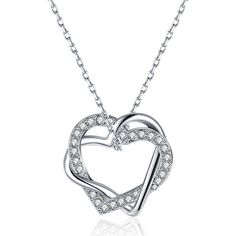 18K Gold Plated Pave Inception Heart Necklace with Swarovski Crystal ($9.99) ❤ liked on Polyvore featuring jewelry, necklaces, jewelry & watches, white, swarovski crystal necklace, gold plated necklace, pave heart necklace, gold plated jewellery and swarovski crystal heart necklace