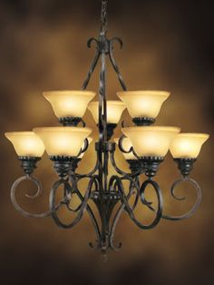 5 Light Chandelier, New Homes, Ceiling Lights, Decoration, Ideas, Home Decor, Decor, Decoration Home, Room Decor