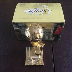 Larry O'Brien 2006 Champs Replica Trophy NBA Basketball Mavericks Miami Heat Box #MiamiHeat