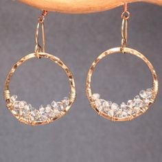 Luxe Bijoux 196 Hammered hoops with by CalicoJunoJewelry on Etsy