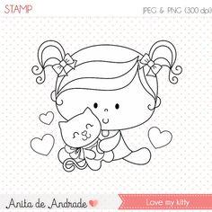50% de descuento amor mi kitty Stamp personal y uso