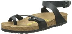 Birkenstock Women's Yara Oiled Leather Flat,Black,36 EU/5-5.5 M US