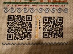SSID Sampler - cross stitch your guest wifi QR code into a sampler