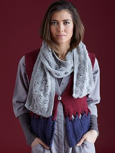 Design from The Sublime Second Superfine Alpaca DK Book (686) 13 designs for women knitted in Sublime Superfine Alpaca DK. When we think about winter, we imagine being wrapped up in the softest and warmest layers. This design book has all the key layering items from waistcoats and sweaters to snoods, scarves and hats designed to wear together for the full luxe look | English Yarns