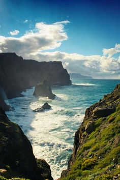 Portugal Travel Inspiration - Wild coast of Madeira Places Around The World, Oh The Places You'll Go, Cool Places To Visit, Places To Travel, Around The Worlds, Dream Vacations, Vacation Spots, Lonly Planet, Voyage Europe