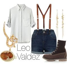 I am so going to be Leo for Halloween Other Outfits, Outfits For Teens, Cool Outfits, Fashion Outfits, Casual Cosplay, Cosplay Outfits, Percy Jackson Outfits, Tio Rick, Leo Valdez