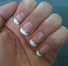 glitter french manicure with pink glitter instead?