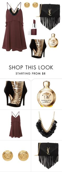 """""""Untitled #466"""" by mariafilomena471 ❤ liked on Polyvore featuring MICHAEL Michael Kors, Versace, Charlotte Russe, Yves Saint Laurent and Clinique"""