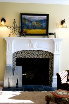 #Fireplace #Tile, Before & After