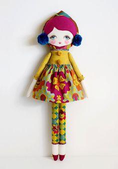 Matilda PDF Pattern Cloth Doll di LolliAndGrace su Etsy
