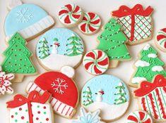 Weihnachtsplätzchen mit schöner Deko