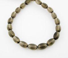 16 8x12mm Smoky Quartz Oval Olive Beads by FancyGemsandFindings, $33.00 Smoky Quartz, Gems, Bracelets, Beauty, Jewelry, Jewlery, Bijoux, Rhinestones, Jewerly