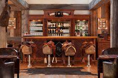 Angolo bar realizzato in stile rustico n.11