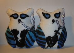 Gothic Stuffed owls gift for girlfriend by DarkPicketFence on Etsy