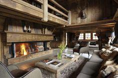 Salotto rustico. Il legno rende tutto più speciale. #Dalani #Chalet #Style www.dalani.it/magazine/ispirazioni/amore-chalet-shabby-glam/