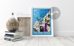 FREE SHIPPING - Mediterranean - travel poster | wall art | printed poster | greece | Nikos Kazantzakis | interior decor | gift for women by AmodDomaART on Etsy https://www.etsy.com/listing/522984382/free-shipping-mediterranean-travel