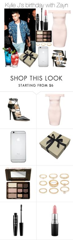 """""""Kylie J's birthday with Zayn"""" by lucybitch ❤ liked on Polyvore featuring Jimmy Choo, Club L, Too Faced Cosmetics, Forever 21, NYX and MAC Cosmetics"""
