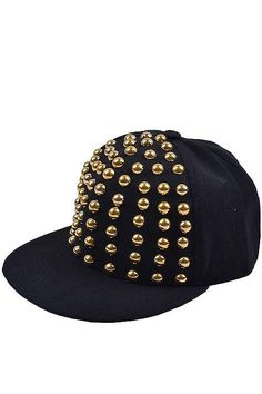Gold Stud Embellished Snapback  http://messyegyrlz.mysupadupa.com/collections/hats-hats-and-more-hats/products/gold-stud-embellished-snapback