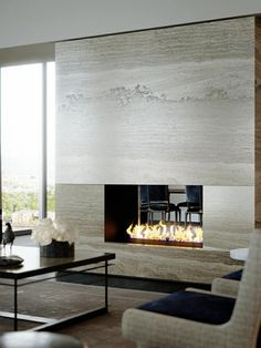 Best Traditional and Modern Fireplace Design Ideas Photos & Pictures Home Fireplace, Living Room With Fireplace, Fireplace Surrounds, Fireplace Design, Fireplace Ideas, Simple Fireplace, Ethanol Fireplace, Granite Fireplace, Foyer Au Gaz