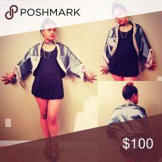 Fringe vinyl and lace shawl Fringe vinyl and lace shawl jacket 808gyptsylove Jackets & Coats Capes
