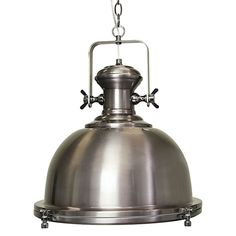 Expose the metallic edge of your aesthetic with the antique influence of the Gaia Industrial Pendant Light from SHE Lights.$369 40dia