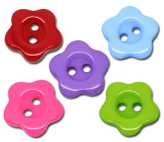 200 Mixed Flower Resin Sewing Buttons Scrapbooking 14mm