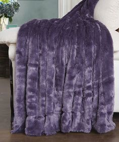 Loving this Purple Double-Sided Faux Fur Throw on #zulily! #zulilyfinds
