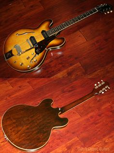 1961 Epiphone Casino in Royal Tan http://www.garysguitars.com/…/1961-epiphone-casino-royal-tan