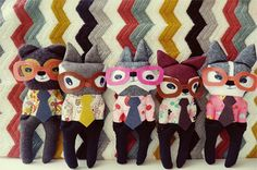 My Owl Barn: One Little Red Fox: Pouches and Plushes