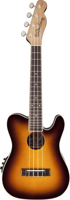 Fender Telecaster Ukulele '52 Acoustic Electric Uke