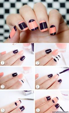 512 Chic Nail Art Designs for Fall 2014 Chic Nail Art, Chic Nails, Nail Art Diy, Easy Nail Art, Hair And Nails, My Nails, Nails Decoradas, Nagel Hacks, Manicure E Pedicure
