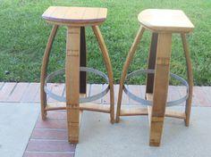 Classic wine barrel bar stool by TCBarrelWorks on Etsy, $200.00