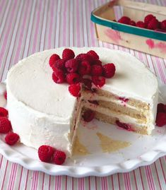 Raspberry vegan and Gluten free cake YUM!!! Egg substations (banana and vanilla yogurt)