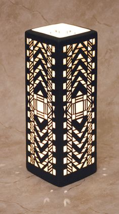 Cool art deco lamp!                                                                                                                                                                                 More