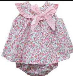 Newborn Girl Dresses, Little Girl Dresses, Girls Dresses, Baby Dress Patterns, Culottes, Cute Baby Girl, Baby Sewing, Doll Clothes, Kids Outfits
