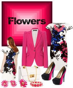 """Flowers"" by simona-mari on Polyvore"
