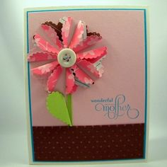 Mom Card Birthday Mother's Day or Just by CarasScrapNStampArt Card Birthday, Happy Birthday, Mom Cards, Cricut Cartridges, Cricut Cards, Colored Envelopes, Paper Design, New Moms, Stampin Up
