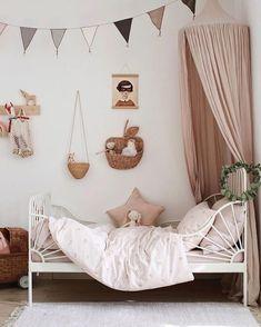 Ikea Minnen Bed, Girls Bedroom, Bedroom Decor, Ikea Bedroom, Ikea Girls Room, Bedroom Furniture, Toddler Rooms, Ikea Toddler Bed, Ikea Kids Bed