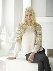 Ravelry: Openwork Shrug (Crochet) pattern by Lion Brand Yarn... Free crochet pattern!