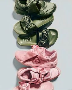 Rihanna releases her bow trainers and slides shoe collaboration with Puma.  SPRING SUMMER  17 FENTYXPUMA d45ffc077