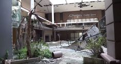 Abandoned Rolling Acres Mall in Akron, Ohio -- looks like a scene from a post-apocalyptic video game