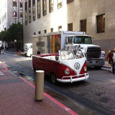 Convertible Volkswagen Bus Spotted in San Francisco Luxury Sports Cars, Sport Cars, Auto Volkswagen, T3 Vw, Vw Camper, Kombi Pick Up, Vans Vw, Vw Minibus, Combi Ww