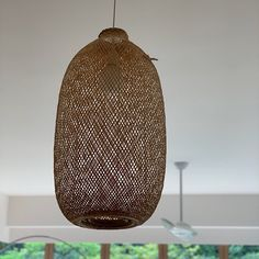 Bamboo Pendant Light, Repurposed Fish Trap Ceiling Lamp, Asian Oblong and Round Woven Bamboo Hanging Lamp, Boho Chinese Lantern / Bamboo Pendant Light, Round Pendant Light, Bamboo Light, Ceiling Canopy, Ceiling Lamp, Trap, How To Make Lanterns, Lantern Making, Bamboo Basket