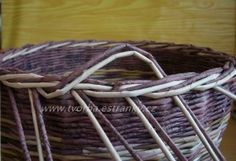 Diy And Crafts, Paper Crafts, Paper Weaving, Picnic, Basket, Hampers, Rolled Paper, Manualidades, Bricolage