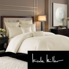 Masterbedroom: Nicole Miller Currents Duvet Cover and Sham Seperates | Overstock.com $149.99