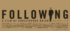 Following (1998), Japanese poster.