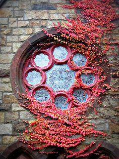 Greenlawn Cemetery Chapel Window, Salem, Massachusetts.